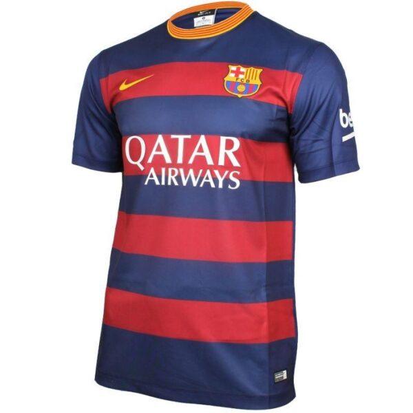 купить футбольную игровую майку  NIKE BARCELONA 15-16 SUPPORTERS SHIRT 658774-422